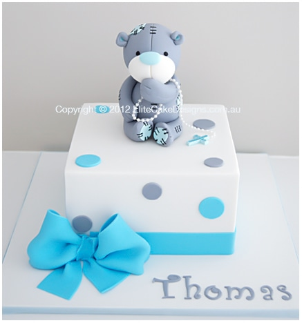 Tatty Bear Christening Cake