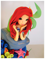 Ariel-Mermaid-Birthday cake