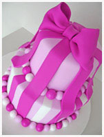 Bow and Ribbons birthday Cake