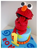 Elmo Sesame Street Childrens 1st Birthday Cake