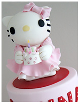 Hello Kitty Girls Birthday Cake