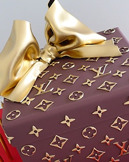 Louis Vuitton gift box birthday cake