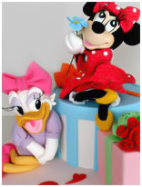 Minnie Mouse-Daisy Birthday Cake
