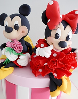 Minnie and Mickey kids birthday cake