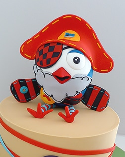 Pirate Hootbeard Birthday cake