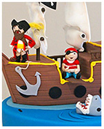 Birthday cake with pirates