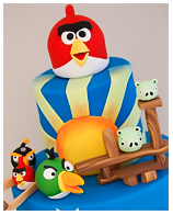 Angry Birds Kids Birthday Cake