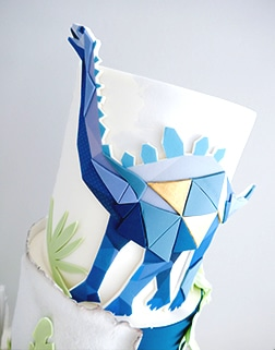 Dinosaur childrens birthday cake
