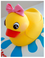 Duckling Kids Birthday Cake