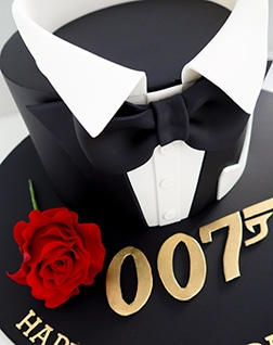 James Bond 007 Birthday cake