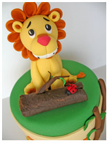 Lion Safari Birthday Cake for boys