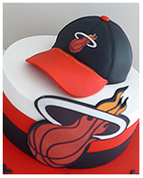 Miami Heat Basketball Theme Birthday Cake