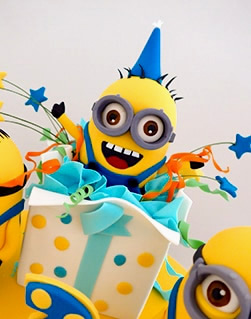 Minions birthday cake for a boy
