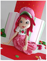 Strawberry Shortcake girls birthday cake idea