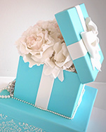 Tiffany & Co Gift box french-floral birthday cake