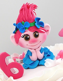 Trolls-Poppy kids birthday cake