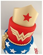 Wonder Woman birthday cake for a girl