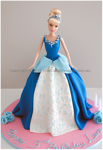 Cinderella blue dress cake