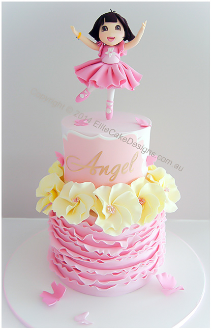 Dora Ballerina birthday cake for girls