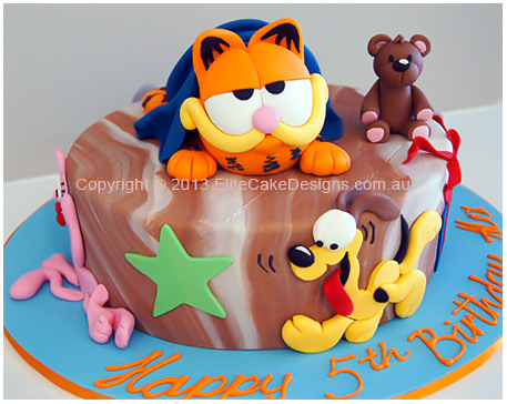 Garfield and friends kids Birthday Cake