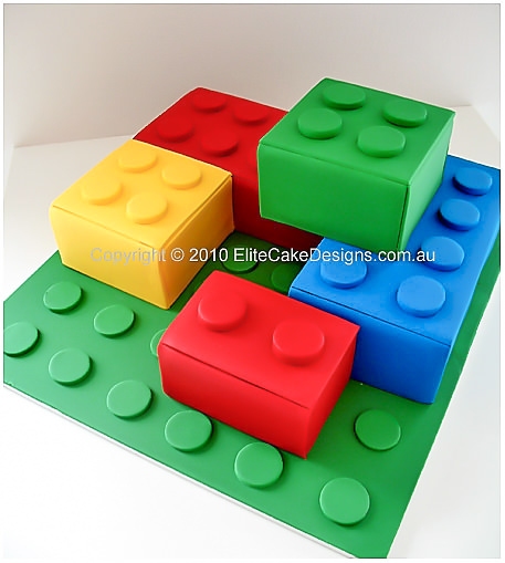 LEGO Blocks birthday cake