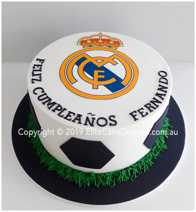 Real Madrid soccer club birthday cake in Sydney