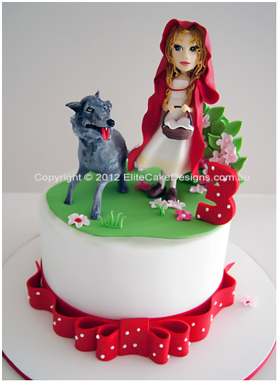 Red Riding Hood Theme Birthday Cake for girls