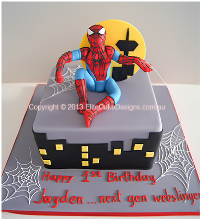 Spiderman birthday cake for boys in Sydney