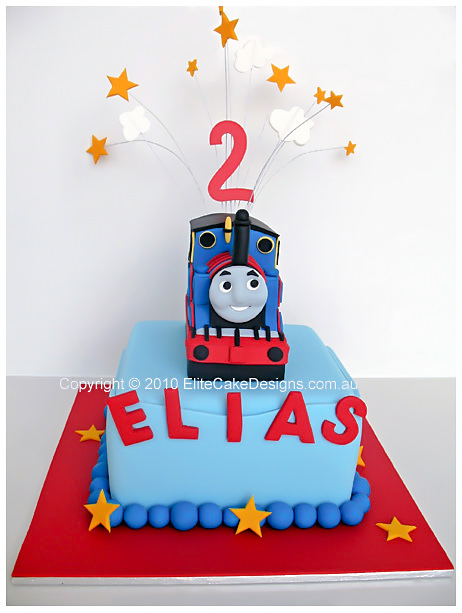 Thomas The Tank Engine Birthday Cake with stars