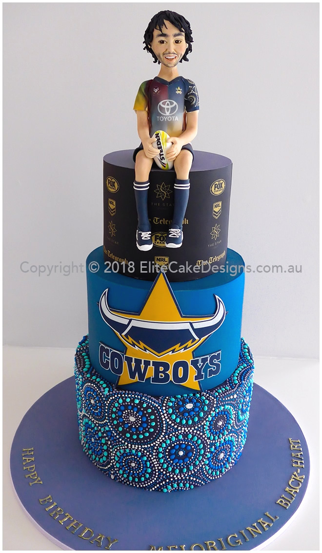 Johnathan Thurston Cowboys NRL birthday cake in Sydney