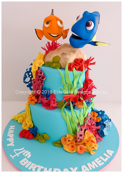 Dory with Nemo girls birthday cake