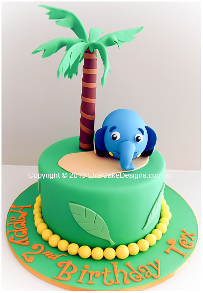 Jungle Junction Ellyvan Birthday cake for kids