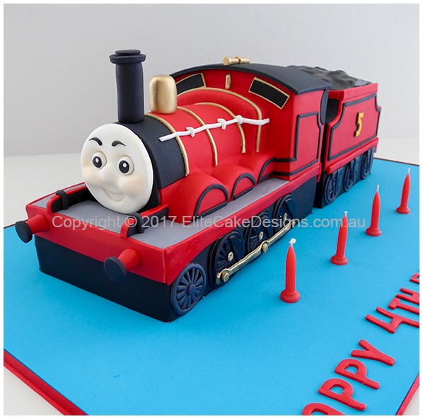 James the Red Engine kids birthday cake idea