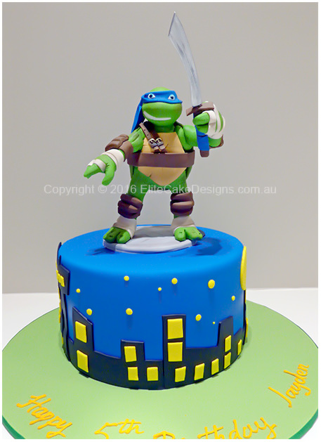 Ninja Turtles Birthday cake for boys