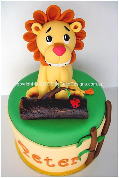 First Birthday Lion Cake