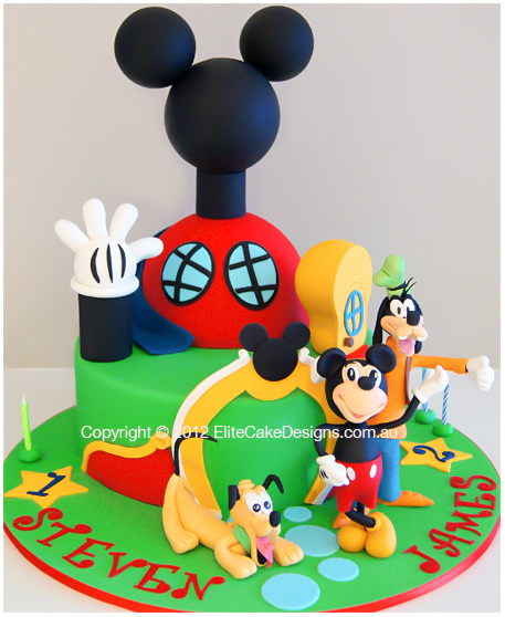 Mickey Clubhouse Kids Birthday Cakes