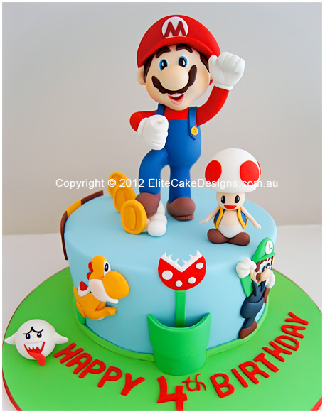 Super Mario Theme Birthday Cake for boys