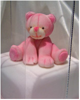 Pink Teddy bonboniere cake for a girl's Christening