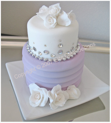 Roses and Diamonds Mini Cakes for weddings