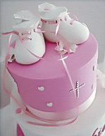 Booties Christening Cake for girls