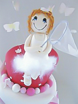 butterfly girl christening cake