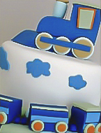 choo-choo-train christening cake