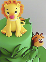 jungle-safari christening cake in sydney