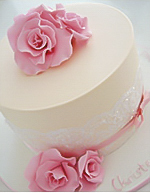 Parisian Rose Christening Cake for girls
