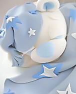 Sleeping Teddy Christening Cake