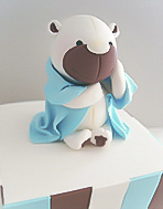 Little Teddy Bear Christening  Cake for boys
