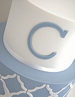 Boys Christening Cake with Cross pattern