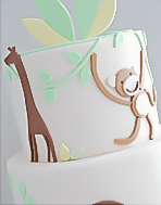 Zoo Animal Theme Christening Cake