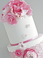 French Rose Christening Cake for girl