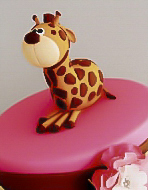 Giraffe Theme Dessert Buffet Christening Cake for girl